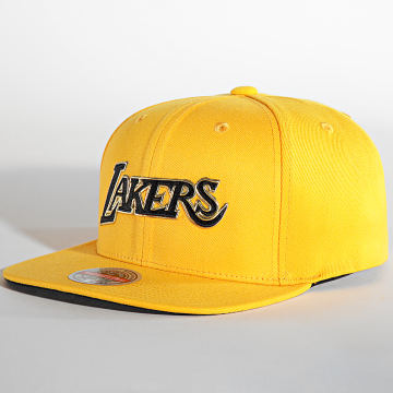 Mitchell and Ness - Casquette Snapback Golden Black Redline Los Angeles Lakers Jaune