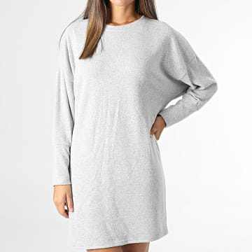 Noisy May - Robe Pull Femme City Gris Chiné