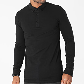 American People - Polo Manches longues Pol Noir