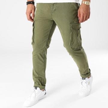 American People - Pantalon Cargo Lazy Vert Kaki