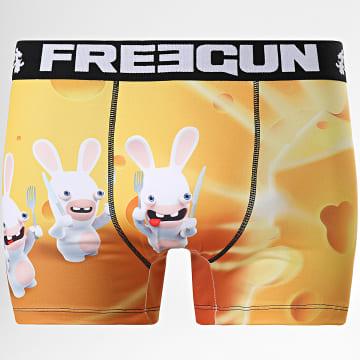 Freegun - Boxer Lapins Crétins Fromage Jaune