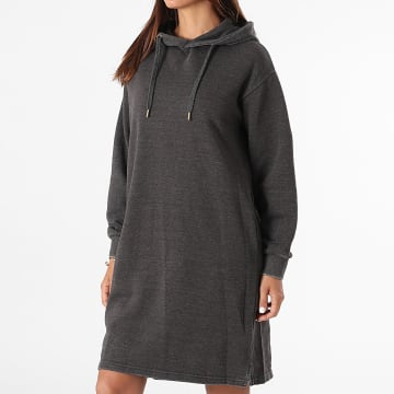 Girls Outfit - Robe Sweat Capuche Femme Rock Gris Anthracite Chiné