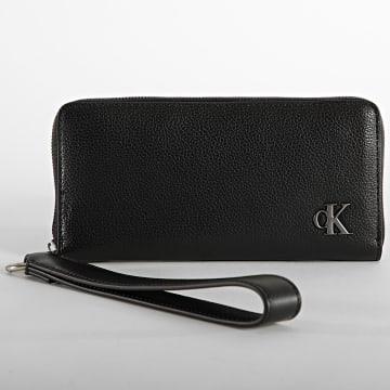 Calvin Klein - Portefeuille Femme Minimal Monogram 8402 Noir