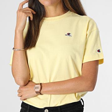 Champion - Tee Shirt Femme 114476 Jaune