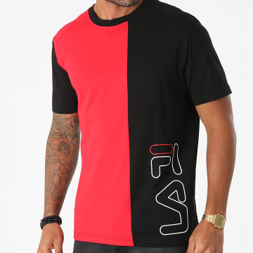 Fila - Tee Shirt Ori 683486 Rouge Noir