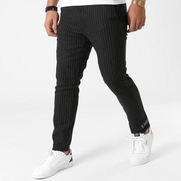 Sixth June - Pantalon Rayures Et Bandes M12026VPA Noir