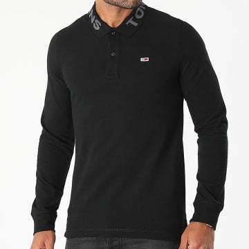 Tommy Hilfiger - Polo Manches Longues Tonal Logo Noir