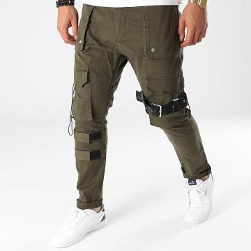 2Y Premium - Pantalon Cargo 6240 Vert Kaki