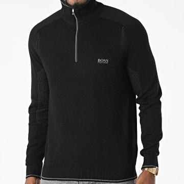 BOSS - Sweat Col Zippé Zavico 50456119 Noir