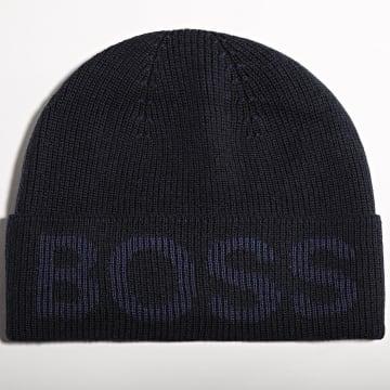 BOSS - Bonnet Nebbiolino 50455707 Bleu Marine