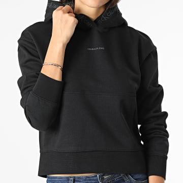 Calvin Klein - Sweat Capuche Femme Crop 5464 Noir