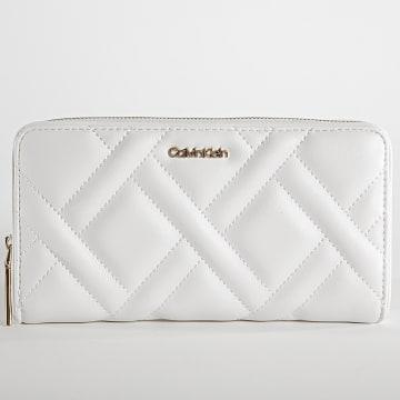 Calvin Klein - Portefeuille Femme Quilt 8467 Blanc