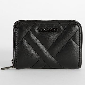 Calvin Klein - Porte-monnaie Femme Quilt 8468 Noir