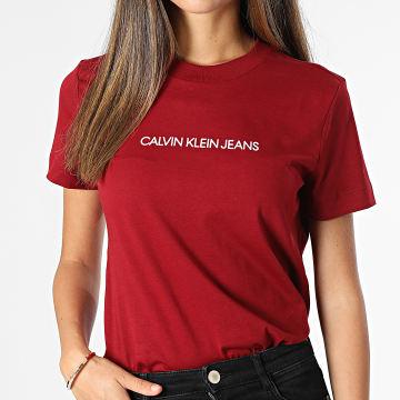 Calvin Klein - Tee Shirt Femme 6251 Bordeaux