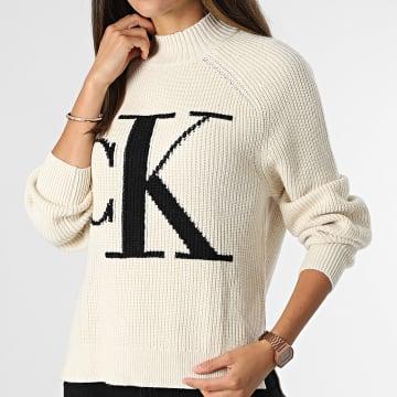 Calvin Klein - Pull Femme 6595 Beige