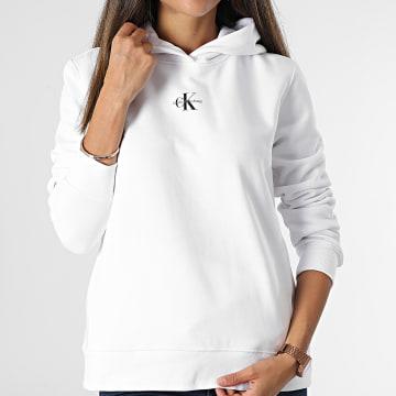 Calvin Klein - Sweat Capuche Femme 6958 Blanc