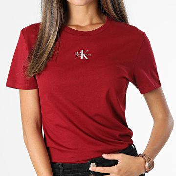 Calvin Klein - Tee Shirt Femme 7314 Bordeaux