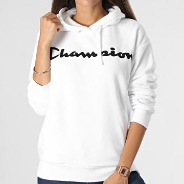 Champion - Sweat Capuche FEmme 114497 Blanc