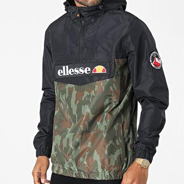 Ellesse - Coupe-Vent Col Zippé Capuche Mont 2 SHK06040 Noir Vert Kaki Camouflage