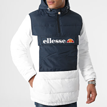 Ellesse - Veste Outdoor Capuche Ultum SHK12202 Blanc Bleu Marine
