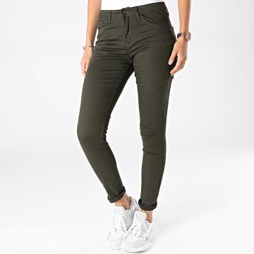 Girls Outfit - Jeans Slim Femme A2001 Vert Kaki