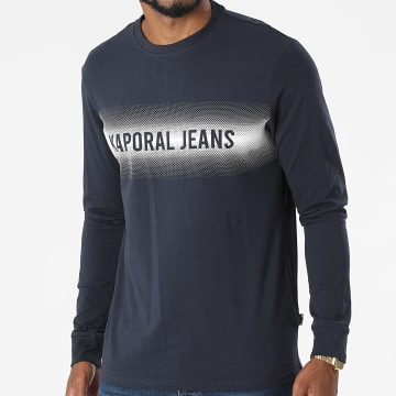 Kaporal - Tee Shirt Manches Longues Ringo Bleu Marine