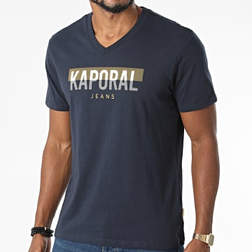 Kaporal - Tee Shirt Col V Robuk Bleu Marine