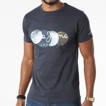 Pepe Jeans - Tee Shirt Sacha Bleu Marine