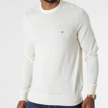 Calvin Klein - Pull Superior Wool Crew Neck 2727 Beige