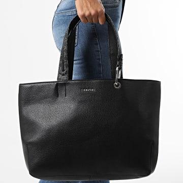 Calvin Klein - Sac A Main Femme Accent Shopper 8442 Noir