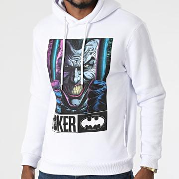 DC Comics - Sweat Capuche Joker Jail Blanc