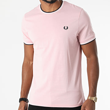 Fred Perry - Tee Shirt Twin Tipped M1588 Rose