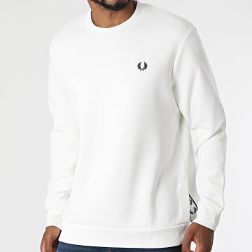 Fred Perry - Sweat Crewneck Concealed Tape M2637 Blanc