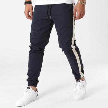 Frilivin - Pantalon Jogging A Bandes 60050 Bleu Marine