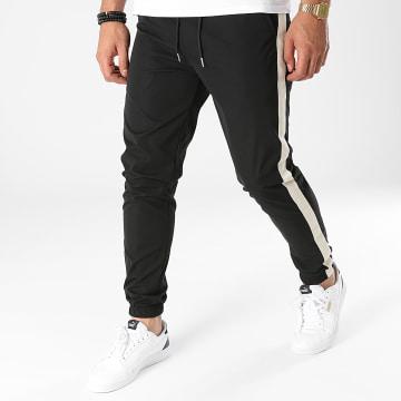 Frilivin - Pantalon Jogging A Bandes 60050 Noir Beige