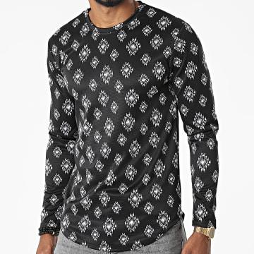 Frilivin - Tee Shirt Manches Longues 15552 Noir