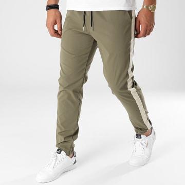 Frilivin - Pantalon Jogging A Bandes 60050 Vert Kaki