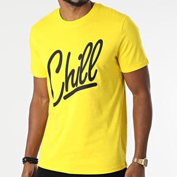 Luxury Lovers - Tee Shirt Chill Jaune Noir