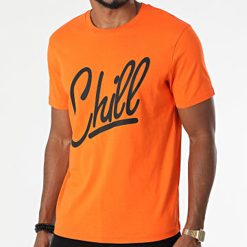 Luxury Lovers - Tee Shirt Chill Orange Noir