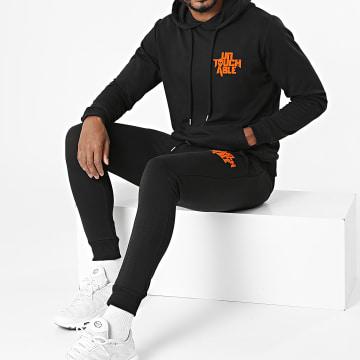 Untouchable - Ensemble De Survêtement Logo Back Noir Orange