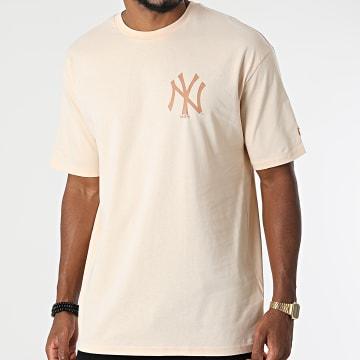 New Era - Tee Shirt New York Yankees 12890949 Beige