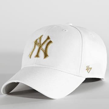 '47 Brand - Casquette MVP Adjustable New York Yankees Blanc Doré