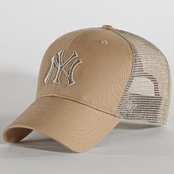 '47 Brand - Casquette Trucker MVP Adjustable BRANS17CTP New York Yankees Beige