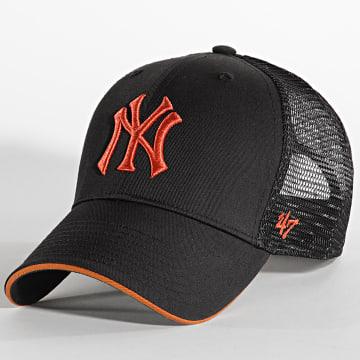 '47 Brand - Casquette Trucker MVP Adjustable New York Yankees Noir Orange