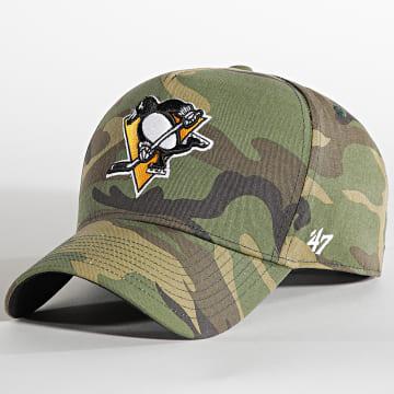 '47 Brand - Casquette MVP Adjustable Pittsburgh Penguins Camo Vert Kaki
