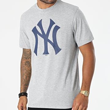 '47 Brand - Tee Shirt New York Yankees Imprint Echo Gris Chiné