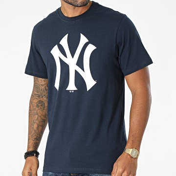 '47 Brand - Tee Shirt New York Yankees Imprint Echo Bleu Marine