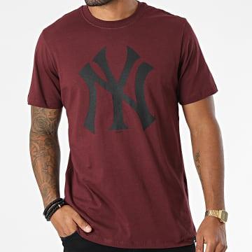 '47 Brand - Tee Shirt New York Yankees Imprint Echo Bordeaux
