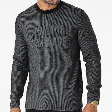 Armani Exchange - Pull 6KZM1N-ZM1EZ Gris Anthracite Chiné