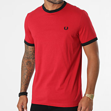 Fred Perry - Tee Shirt Ringer M3519 Rouge